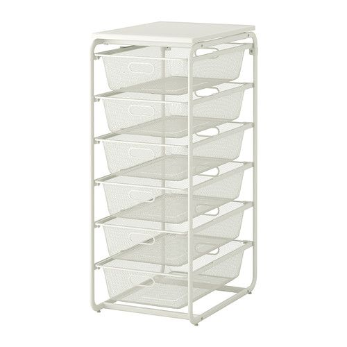 Ikea Hocker Karlstad Isunda Grau ~   mesh baskets top shelf ikea see more from ikea pinned from ikea com