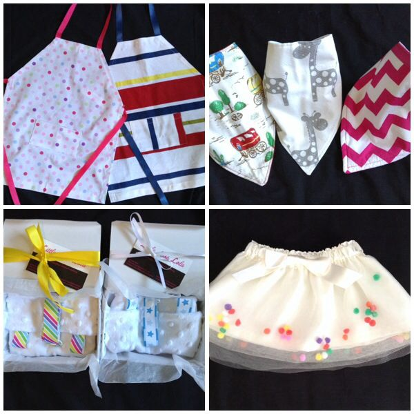 New products that made their debut at last nights market will be available next week! *reversible bamboo filled bandana bibs *super cute Pom Pom skirts *baby gift packs with matching minkie blankie & dummy clip *aprons for your little Miss or Master Chef Like us at www.facebook.com/littlemisslolas