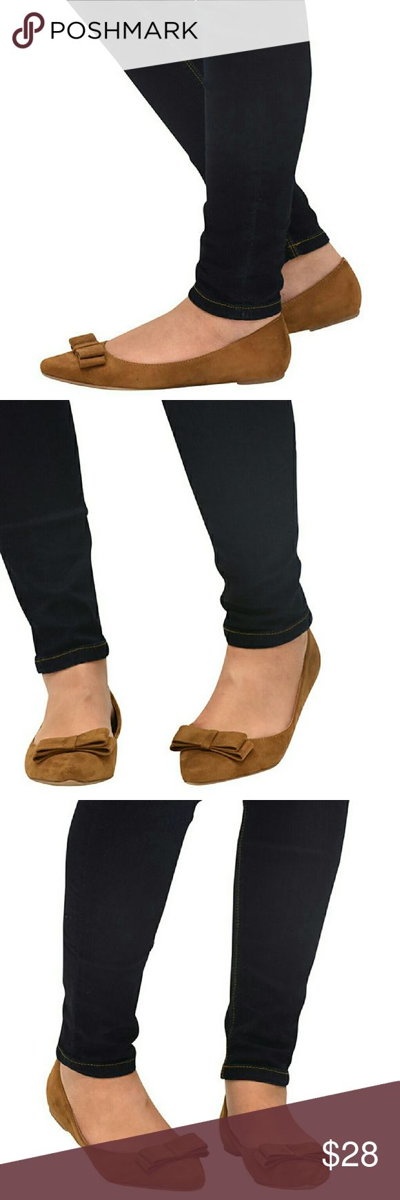 Pointed-Toe Slip-On Ballet Flats You are chic and comfortable in this cute flats which comes in one of the beautiful hues of the season.  Style with jeans or regular pants. This flats features:  Pointed-toe Bow at the vamp Faux suede Light insoles for comfort Shoes Flats & Loafers