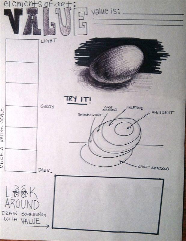 Graphic & Interactive Organizer for Value lesson - Grade 4s & 8s
