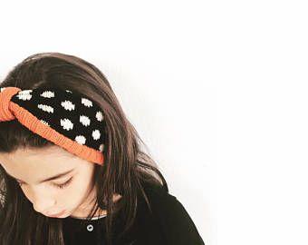 Girl's knitted headband, girl's knitted turban