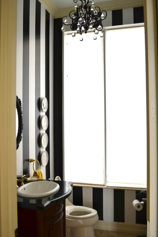 17 best images about black and white on pinterest black for Blue and black bathroom ideas