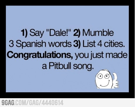 How to make your own Pitbull song    LOL