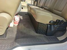 Diamond plate under seat storage - Ford F150