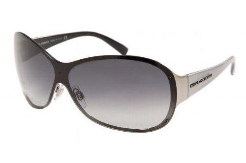 Dolce & Gabbana Sunglasses Silver Black D&G Aviator style DG2046  Made in Italy  #DolceGabbana