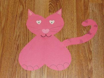 Preschool Crafts for Kids*: Valentine's Day Heart Cat Kids Craft