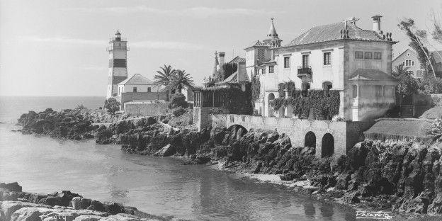 antónio passaporte . Casa de Santa Maria e Forte e Farol de Santa Marta em 1950