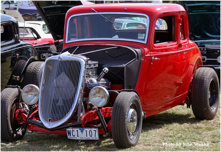 Red Classic Car Ford
