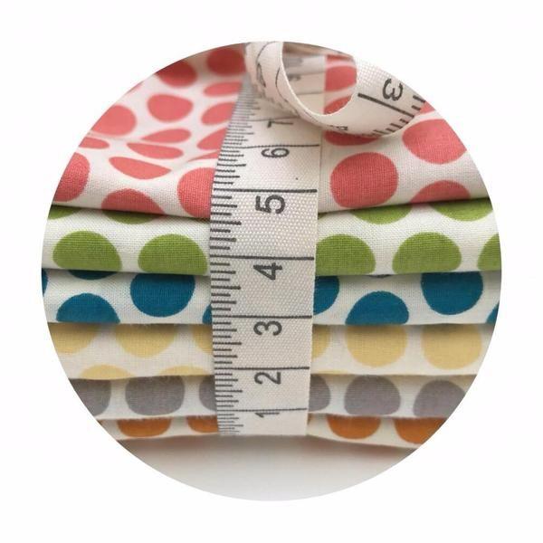 Organic 6 Fat Quarter Bundle - Dottie Organic Poplin - Mod Basics Coll – Pins & Needles Fabrics