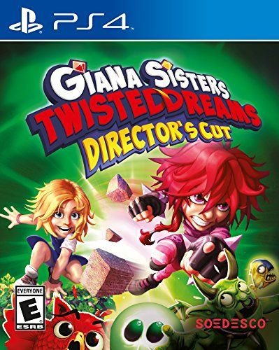 Giana Sisters Twisted Dreams Directors Cut - PlayStation 4 - Giana Sisters: Twisted Dreams - Director's Cut combines the award winning Giana Sisters: Twisted Dreams and Giana Sisters: Rise of the Owlverlord in one superb package. Runs in crisp 1080p at 60 frames per second. Morph between nice and badass, to solve puzzles and beat enemies