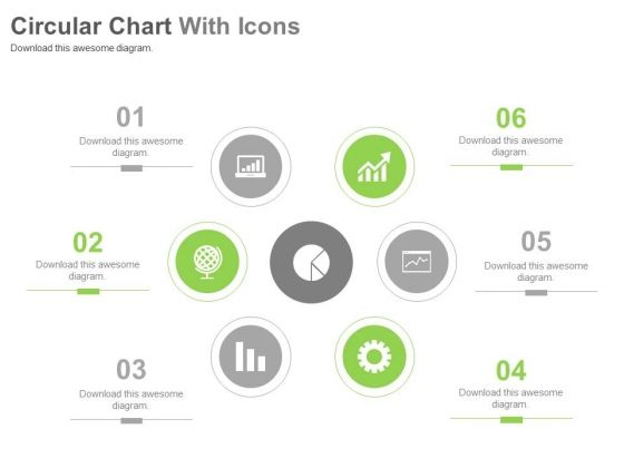 six steps circular chart with icons powerpoint slides powerpoint