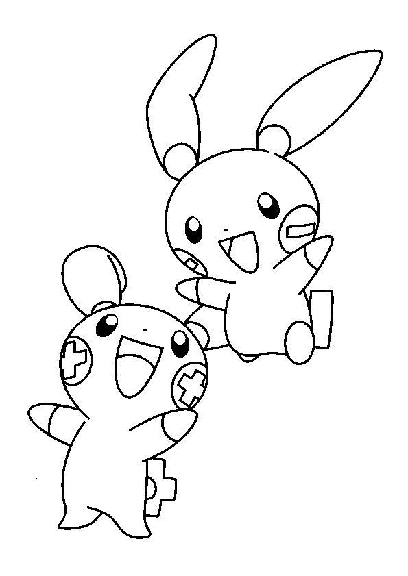 Des Pokémons éclair, les Pichus à colorier