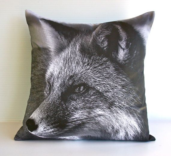 FOX decorative pillow woodland  decorative by mybeardedpigeon, $49.00 cushion, pillow, fox , childrens bedroom