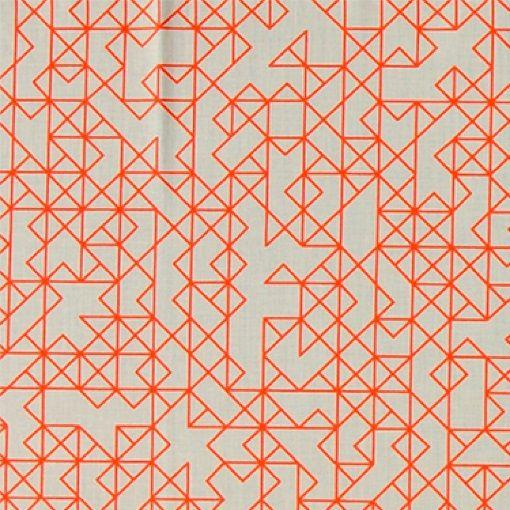Bomull sand m oransje strek mønster