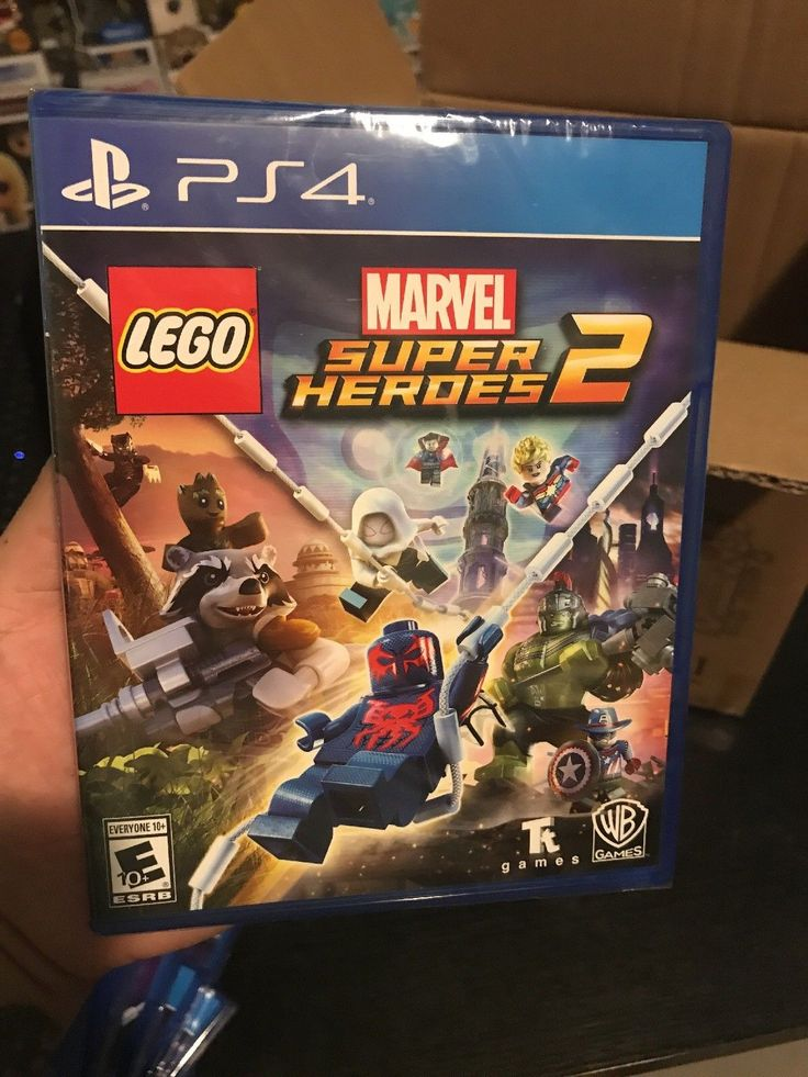LEGO Marvel Super Heroes 2  PlayStation 4 in hand ready to ship