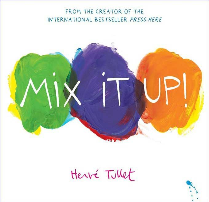 In 'Mix it Up!', Herve Tullet uses dots of paint and interactive magic to teach children how colours mix to create new colours.