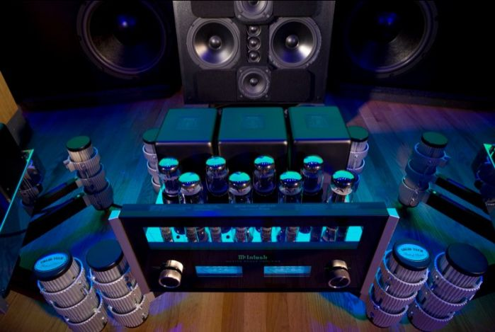 """""""An Orchestra of Amplifiers"""" (56 in total) reduce distortion to below audibility and measurement!"""