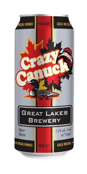 Crazy Canuck from the Great lakes brewery, had to try this one based on the name alone. There are Strong hop flavors, but it could be more bitter, the grapefruit citrus flavor is really nice. It's quite refreshing for a craft beer, I'd probably seek it out again in the summer.