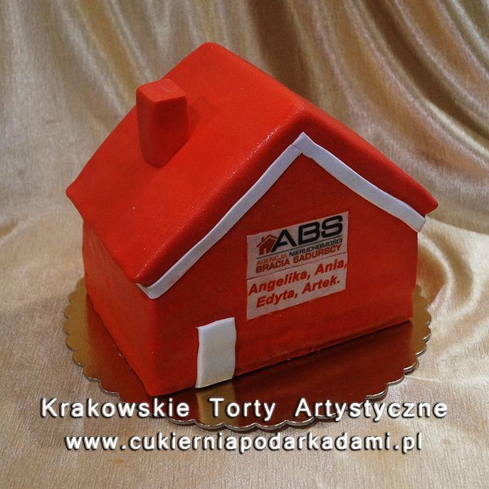 041. Tort domek dla firmy budowlanej. House cake for construction company.