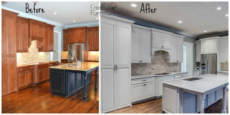 Before and After Painted White Cabinets   Sherwin Williams ...