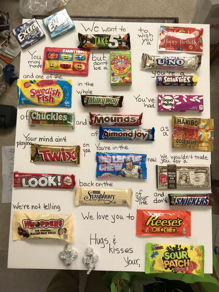 Candy gram for dad's 90th! Homemade birthday gifts, 90th