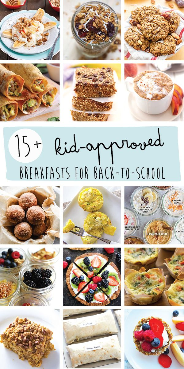 15+ heathy and easy recipes to make for the entire family. Before way to curb the back-to-school morning craziness!