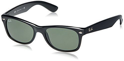 6c5c81efdbf4 Ray-Ban RB2132 Wayfarer Unisex Sunglasses with Black Frame and Green Classic  Len  RayBan  Square