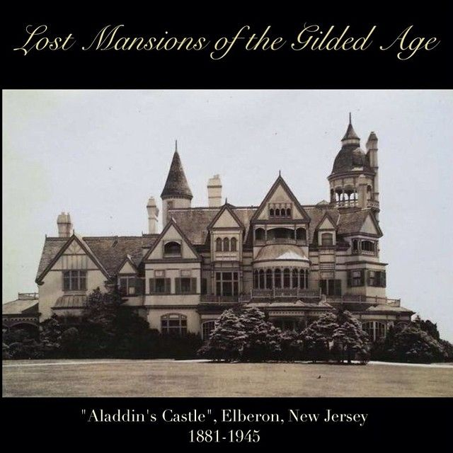 This amazing mansion was built in 1881 for Cornelius Kingsland Garrison at Elberon, New Jersey. The house was later owned by the Guggenheim family. The coast of New Jersey, during the Gilded Age was lined with incredible Victorian mansions, all trying to outdo each other with embellishments of fretwork,stained glass, towers, porches and exotic details. This local landmark house survived till the mid 1940s, then was demolished. #victorian #mansions #gilded #gildedage #historichouses…