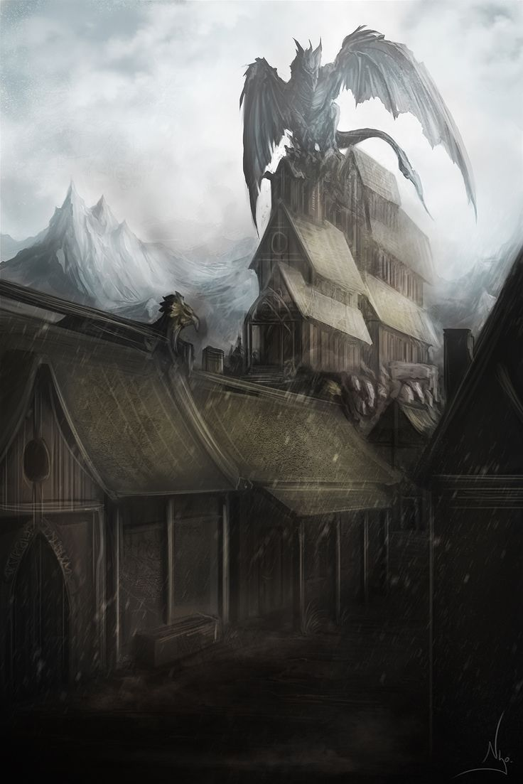 Skyrim, that's MY HOUSE dragon!!! Hello, my name is Dragonborn. You're sitting on my house. Prepare to die!!!