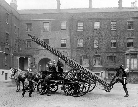 horse drawn fire ladder