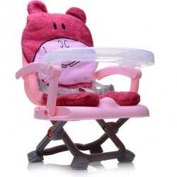 Cadeira de Alimentação Portátil Bichinhos Rosa