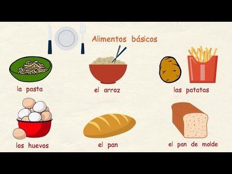 Aprender español: Los alimentos (nivel básico) - YouTube