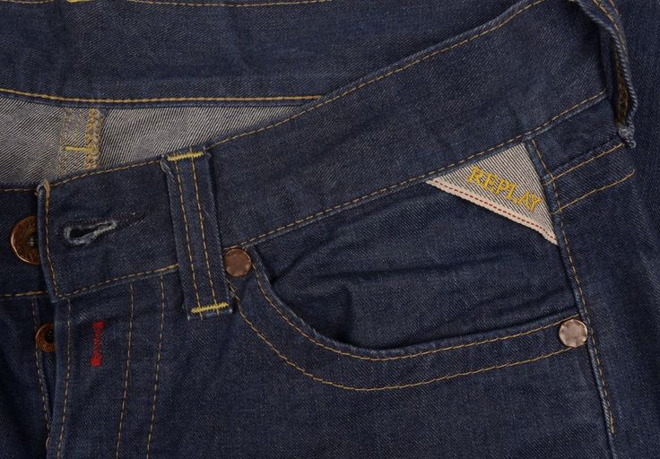 REPLAY Mens jeans W32 L34 Regular fit INDIGO Denim Straight Tapered £130