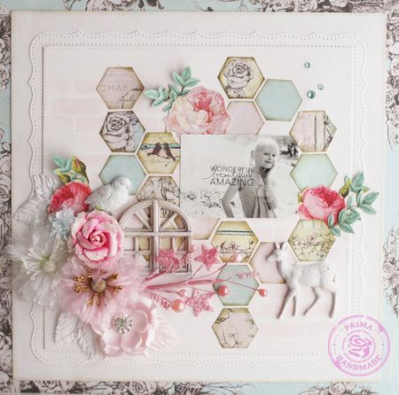 Steph Devlin #prima #scrapbooking Now where is my hexagon punch?