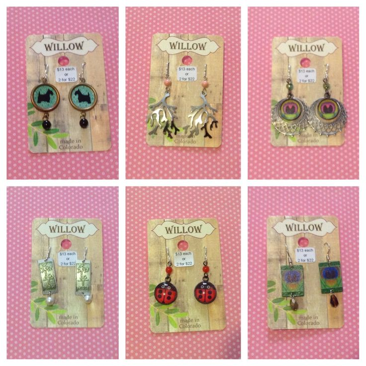 cute and youthful earrings made by local company Willow/Tapestry ~ Buy 2 or more and get a price break! #Tapestry #Willow #LemonTree #PlumTree #cute #youthful #young #kids #adults #children #teens #fun #affordable #GreatDeals #birds #animals #dogs #Schnauzer #peacocks #peace #LadyBugs #antlers #trendy #fashion #stylish #LocallyMade #local #SupportLocal #earrings #jewelry