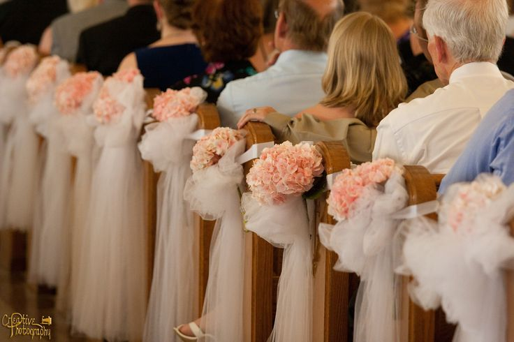 wedding flowers pew bow