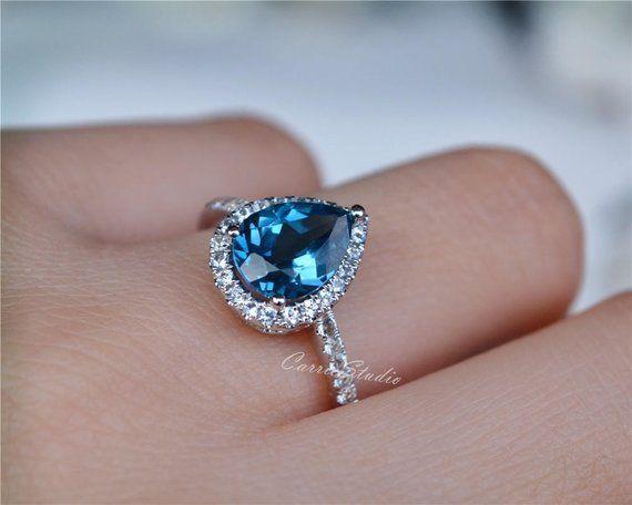 Natural Blue Topaz Ring Cut Stone Rings Women Rings Anniversary Ring Oval Blue Topaz Ring Topaz Cut Ring Topaz Ring Handmade Rings