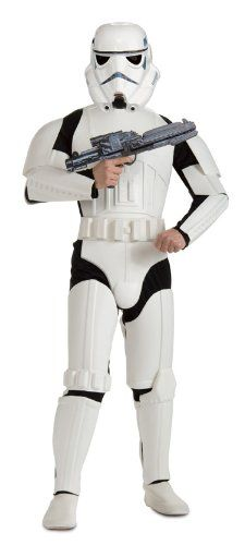 Star wars deluxe stormtrooper costume Package contains jumpsuit with eva molded pieces and 2-piece helmet Officially licensed product