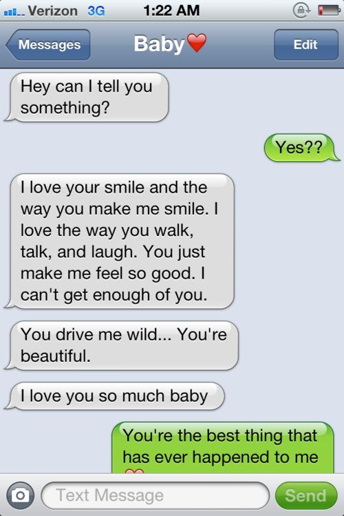 okay kinda cute :) but over text? Really?