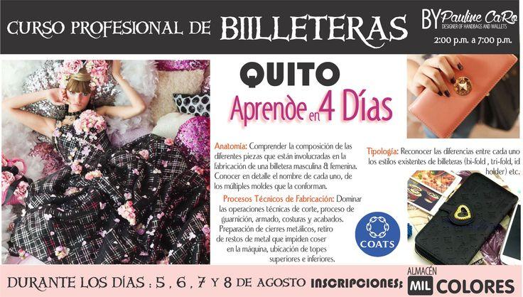 CURSO EN QUITO  DE BILLETERAS