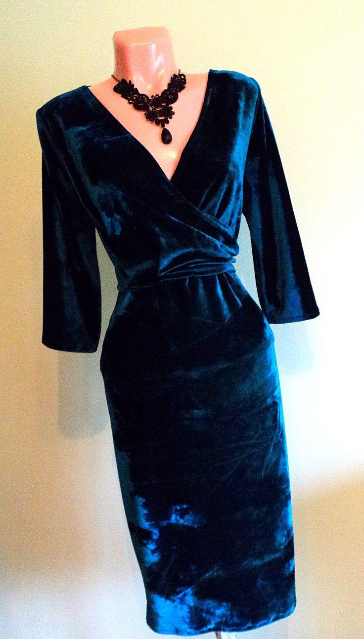 rochie petrecuta din catifea turcoaz