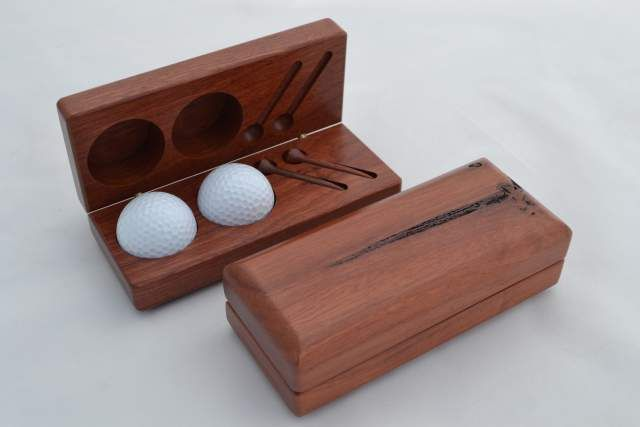 Golf Set with #jarrah tees $30.80 www.ozwood.com.au