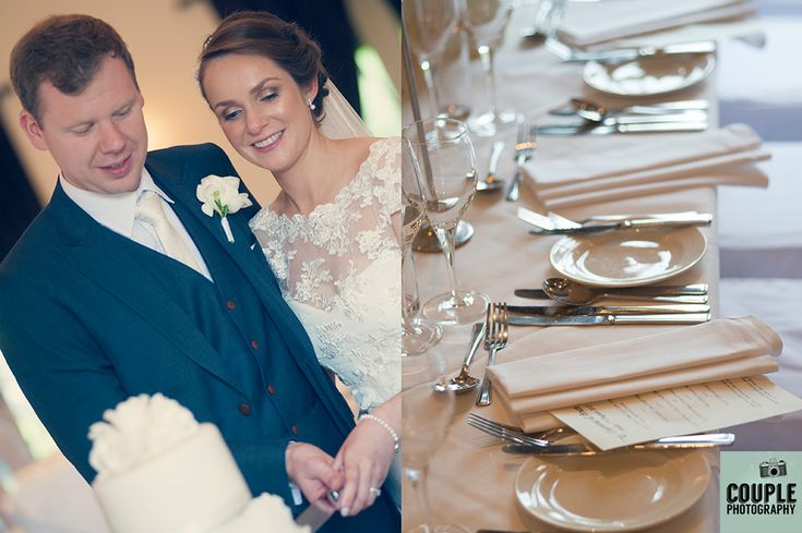 The cutting of the cake. Wedding photography at The Brooklodge Hotel by Couple Photography.