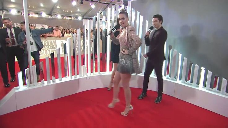 Katy Perry's interview on the Red Carpet of the 2017 Brit Awards