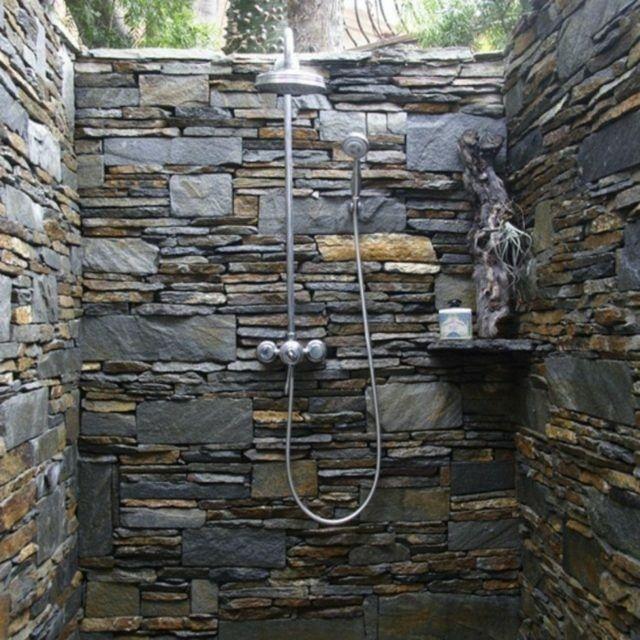 M s de 1000 ideas sobre ducha de piedra en pinterest for Duchas rusticas piedra
