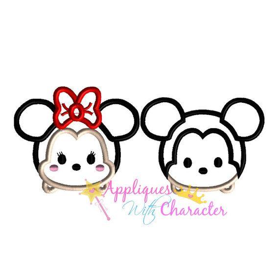 Minnie Mouse Applique Design, Minnie Mouse Embroidery Design, Minnie Mickey Tsum Tsum Applique Design, Girl Applique Design, Girl Embroidery