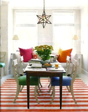 Dining Room By Todd Klein Shot Simon Watson For House Beautiful English Regency Chairs Sit On A Madeline Weinrib Rug From ABC Carpet Home