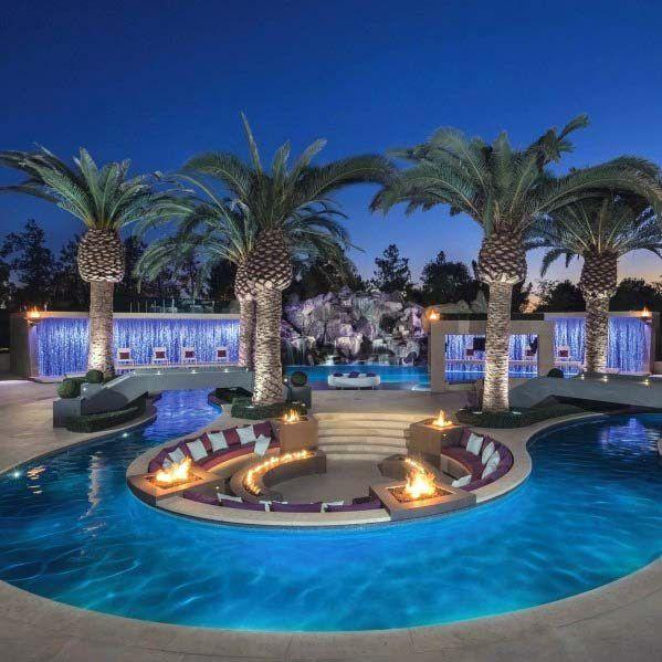 As 60 melhores idéias de cachoeiras de piscina – características da água em cascata  – Pool Zuber
