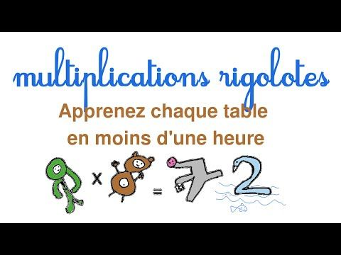 Apprendre facilement les tables de multiplication - YouTube