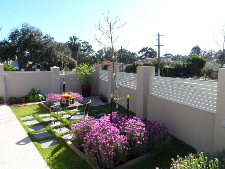 Privacy Fencing Perth - Perth Western Australia, Australia. Surf Mist aluminium slat fence